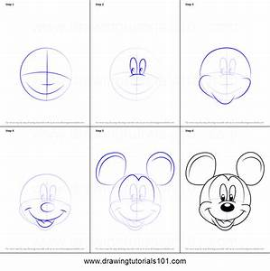 How to Draw Mickey Mouse Face from Mickey Mouse Clubhouse ...