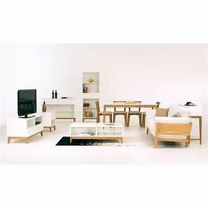 console 1 tiroir scandinave blanco drawerfr With wonderful meuble entree avec miroir 6 console entree contemporaine miroir style scandinave bois