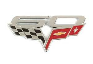 60th anniversary plate c6 corvette 2005 2013 60th anniversary gm fender emblem