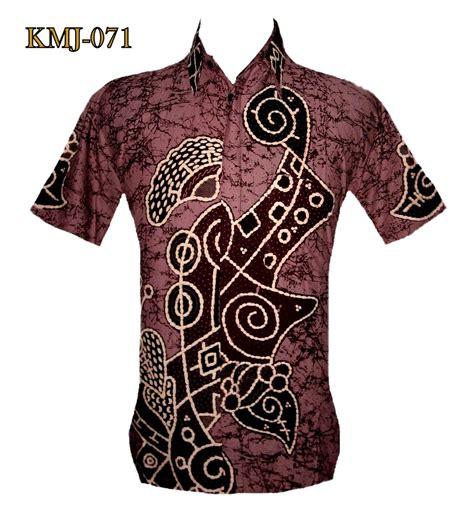 seragam blouse batik jumbo kemeja batik casual warna pastel lembayung kmj 071