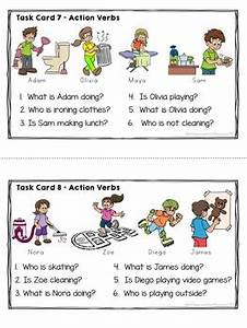 Esl Activities Action Verbs And Verb Tenses By A