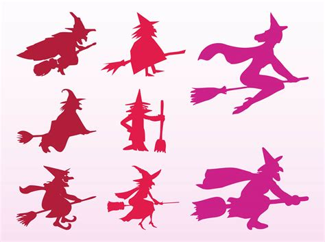 witches silhouettes vector art graphics freevectorcom