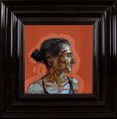 sous prefet hors cadre 28 images profil d antonio encre et acrylique sous perspex 53 x 53 cm