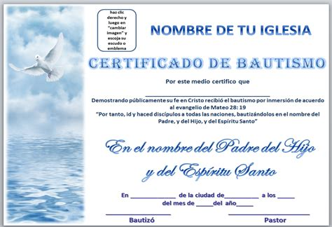 iglesia mar abierto certificados de bautismo para descargar