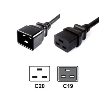 wall panels c20 to c19 power cords iec 60320 server power cables