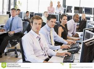View Of Busy Stock Traders Office Royalty Free Stock ...