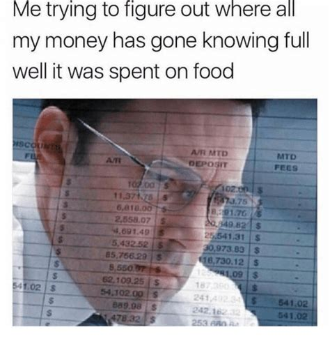 Me Trying To Figure Out Where All My Money Has Gone