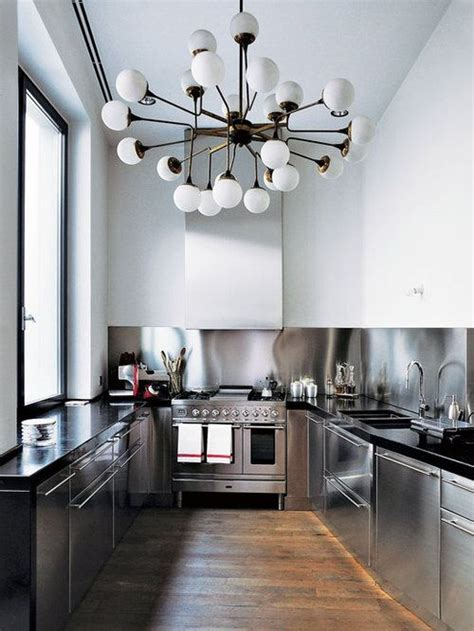 kitchens interior stainless steel kitchen light