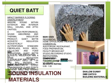 Insulating Ceiling Panels by Sound Insulation Materials