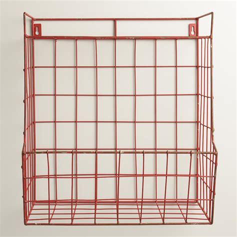 wire hanging shelf braedyn wire wall storage with shelf world market