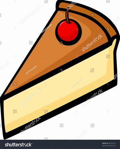 Cheesecake Slice Pie Clip Cherry Vector Shutterstock