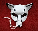 White Fox Leather Mask ...handmade leather fox mask