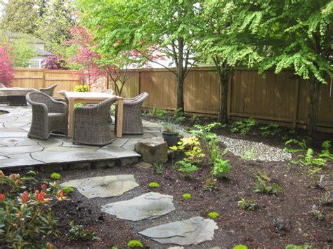 modern cottage garden design modern cottage shade garden with native plants and stone patio