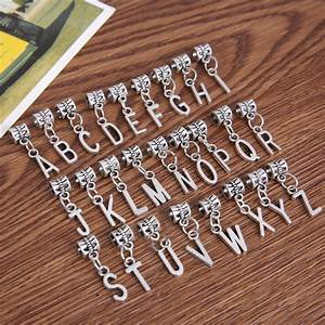 new 26pcs mixed metal charms silver plated letter alphabet With metal letters for jewelry