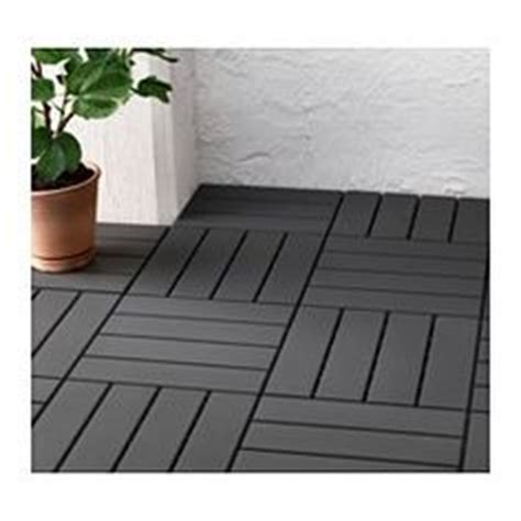 runnen floor decking outdoor dark gray ikea