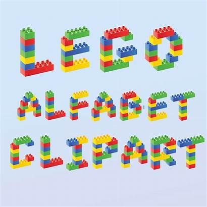 Lego Font Clipart Alphabet Cliparts Google Graphics