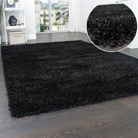 Schwarzer Teppich Ikea by Langflor Shaggy Schwarz Teppichcenter24