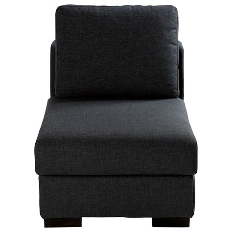 canape chauffeuse chauffeuse en tissu monet anthracite l 64 cm terence
