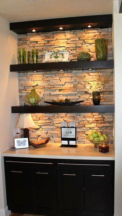 box  recessed lighting floating shelf bar lighting