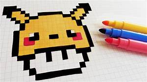 Pixel Art Manger : handmade pixel art how to draw pikachu mushroom ~ Melissatoandfro.com Idées de Décoration