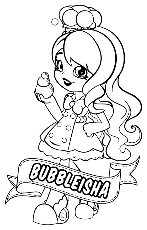 Shopkins Shoppies Coloring Pages at GetColorings com