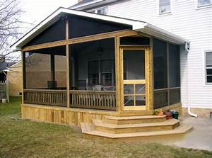Screened In Back Porch Ideas — Porch Designs : Easy