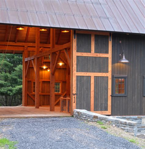 New Barn Garage by Gentleman S Barn Farmhouse Garage And Shed New York