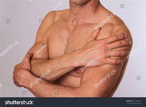 Sport Injury Man Shoulder Pain Pain Stock Photo 411342649
