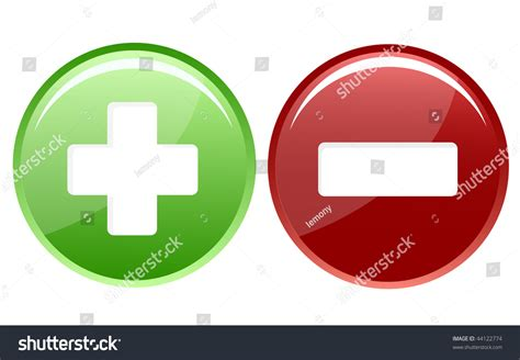 Positive And Negative Icon Stock Vector Illustration