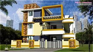 Modern 3 floor Tamilnadu house design - Kerala home design