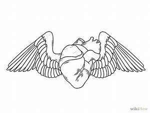 Easy Drawings Of Broken Hearts With Wings | www.imgkid.com ...
