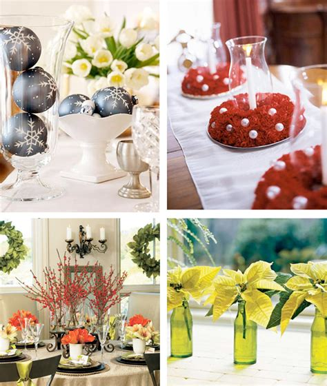 cheap christmas table decorations 50 great easy christmas centerpiece ideas digsdigs