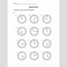1000+ Images About Que Hora Es? On Pinterest  Spanish, Telling Time And Clock