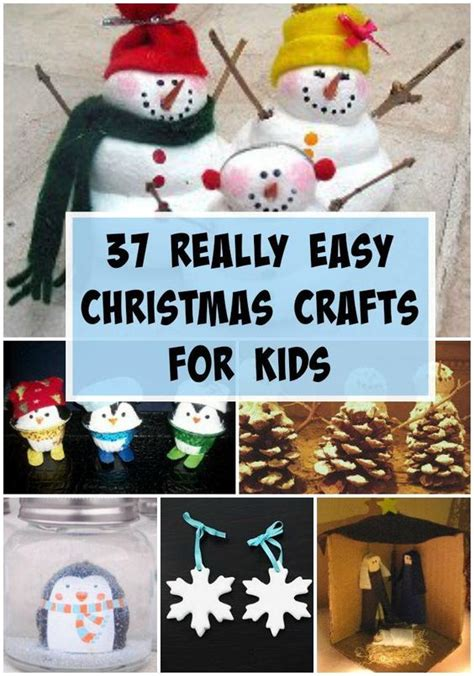 37 really easy christmas crafts for kids for kids my