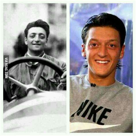 There was, for example, none of the sense of belonging to the family that i had with the maserati brothers. On the left the founder of ferrari, Enzo Ferrari, died 1988, on the right footballer Mesut Özil ...