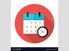 Calendar and clock Time circle icon Royalty Free Vector