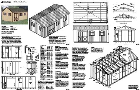 12x24 gambrel shed plans 12 x 20 gable backyard storage shed plans material list
