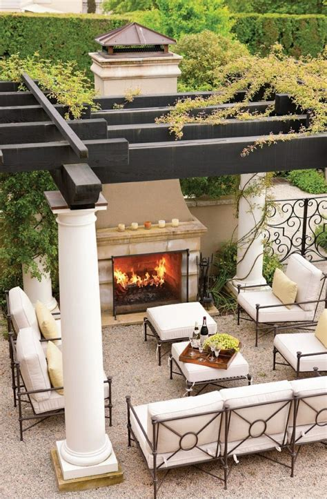 top 12 stunning fireplaces for luxury outdoor living