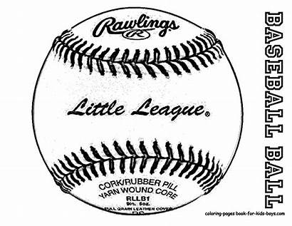 Baseball Coloring Pages Mlb Sheet Outline Clipart