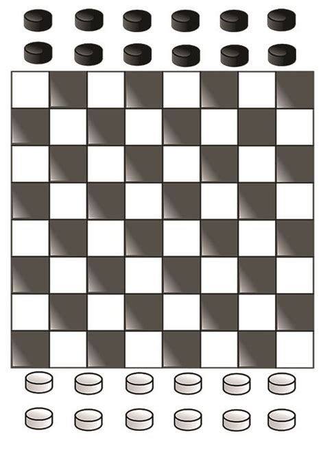 russian draughts printable board game  printable