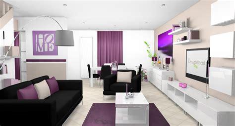 chambre et table d h e déco salon prune et noir