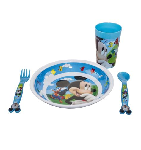 mickey mouse bathroom set uk 4pc mickey mouse dinner set