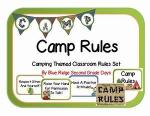 Cute Chore Chart Camp Rules Camping Themed Classroom Rules By