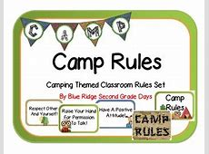 Camp Rules Camping Themed by Courtney Eller