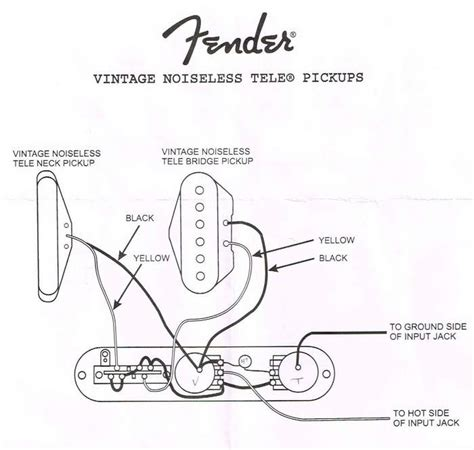 Fender Vintage Noiseles Wiring Diagram by Tele Wiring Questions Telecaster Guitar Forum