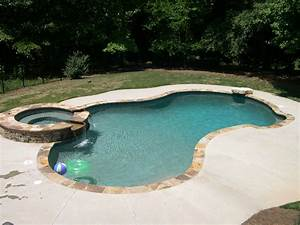 Homeofficedecoration swimming pool designs with hot tub for Swimming pool and spa design