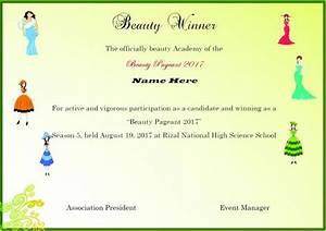 winner certificate template 40 word templates for With pageant certificate template