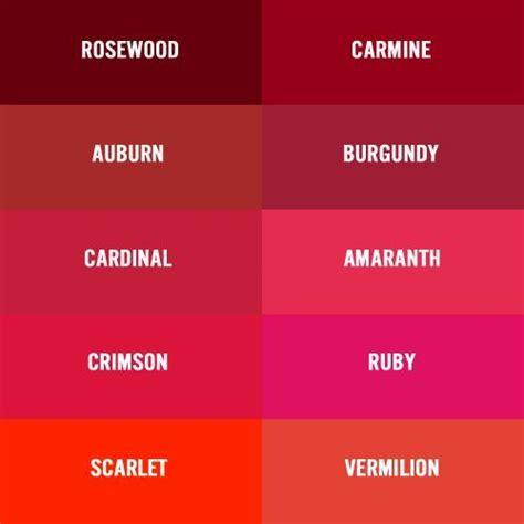 different color reds burgundy vs garnet color chart burgundy wine