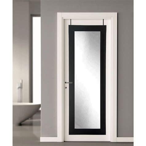 over the door mirror with lights 21 5 in x 71 in black over the door full length framed