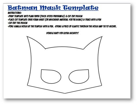 Batman Mask Template batman ideas 25 bakery crafts giftcard giveaway